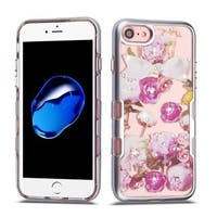 Insten Multi-Color Roses Tuff Hard Snap-on Dual Layer Hybrid Case Cover with Diamond For Apple iPhone 7