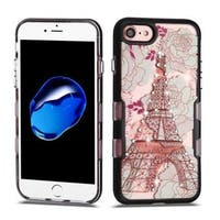 Insten Multi-Color Eiffel Tower Tuff Hard Snap-on Dual Layer Hybrid Case Cover with Diamond For Apple iPhone 7