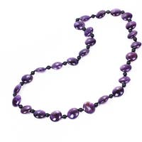 Round Cut Choice of Gemstone Endless Beaded Necklace-28 inch