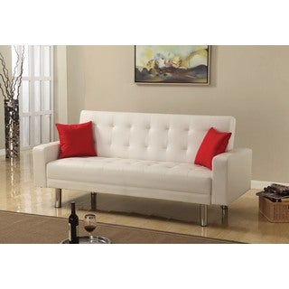 Best Master Furniture Faux Leather Adjustable Sofa Bed Futon