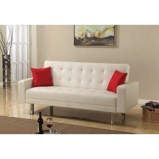 Best Master Furniture Faux Leather Adjustable Sofa Bed Futon