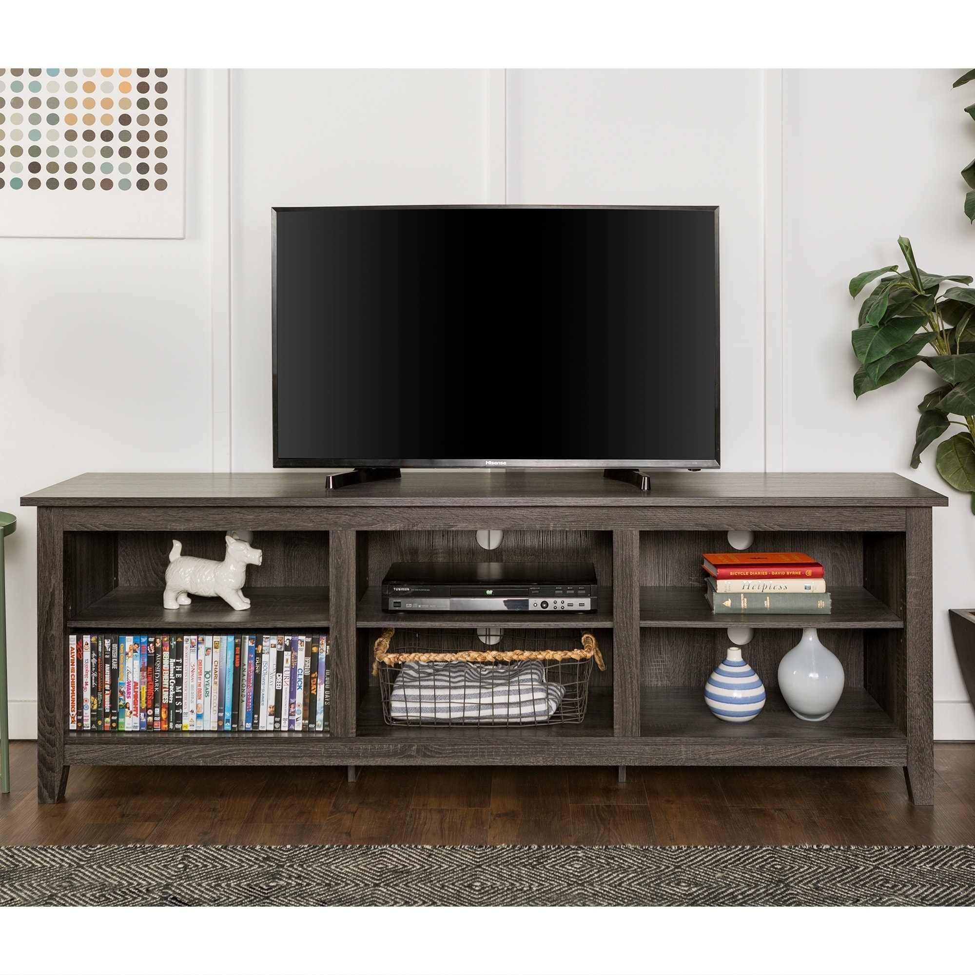 Shop 70-inch Wood Media TV Stand