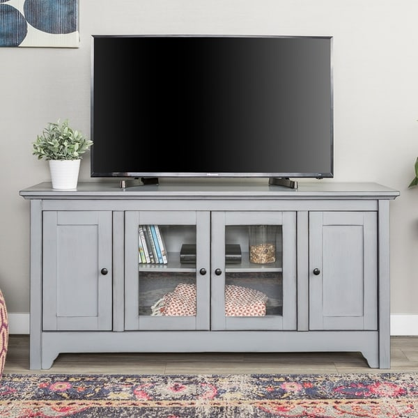 52 Quot Wood Tv Media Stand Storage Console Free Shipping