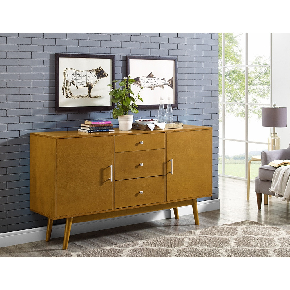 60-inch Traditional Mid-century Wood TV Console