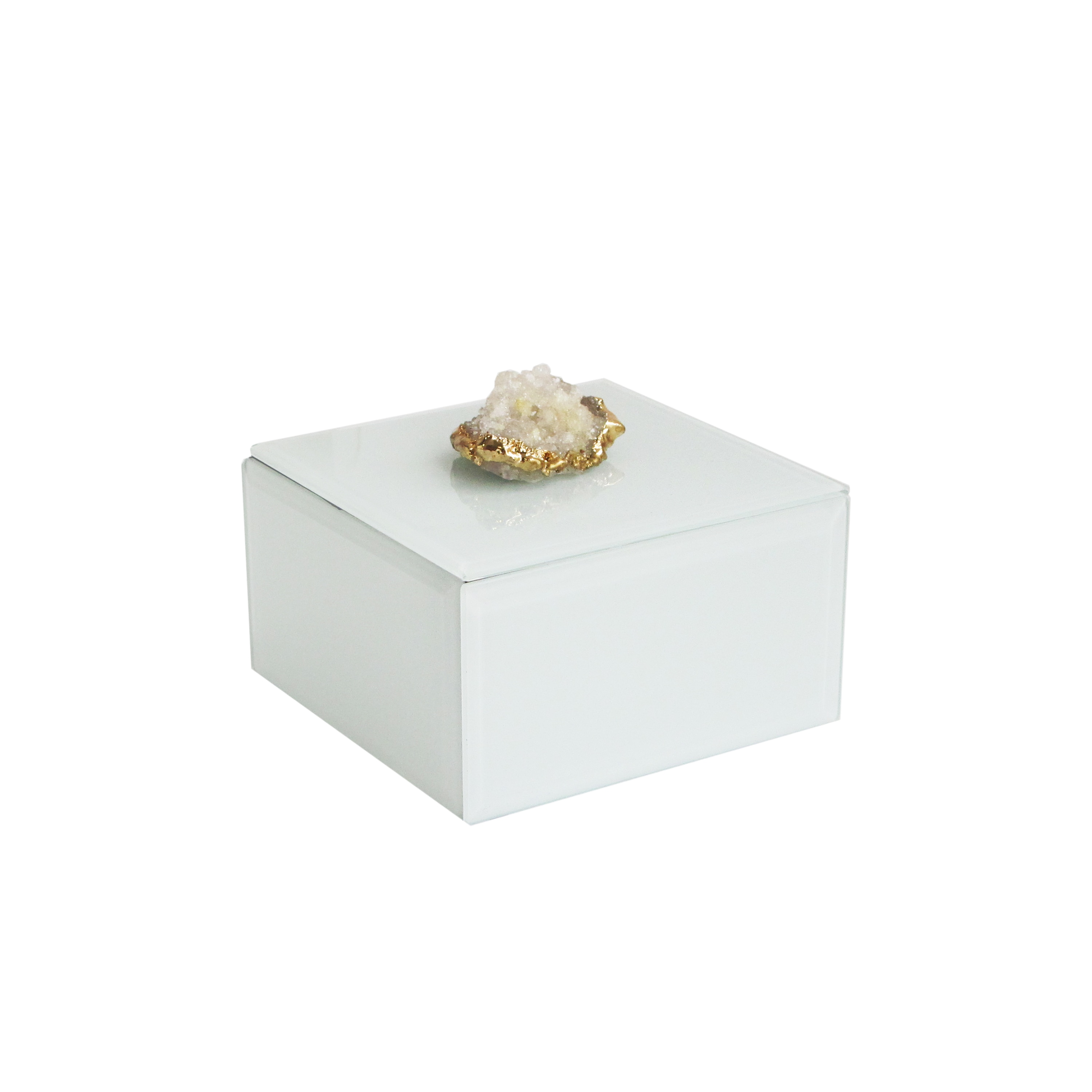 """Allure by Jay Agate White Box 4.5 x 4.5 x 2.5"""""""