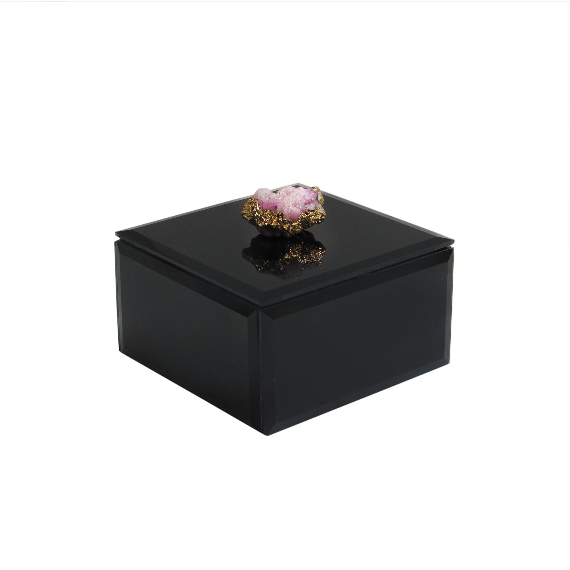 "Allure by Jay Agate Black Box 4.5 x 4.5 x 2.5"""
