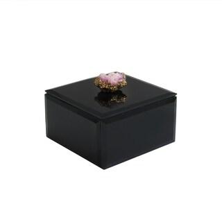 "Agate Black Box 4.5 x 4.5 x 2.5"""