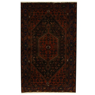 Herat Oriental Persian Hand-knotted Tribal Hamadan Wool Rug (4'9 x 7'7)