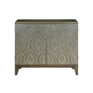 Imperial Metallic Silver Wood Bar Cabinet