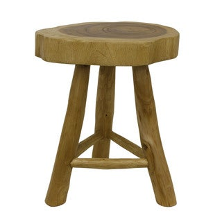 Decor Therapy Brown Wood Stool