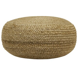 Havenside Home Maryus Round Woven Pouf