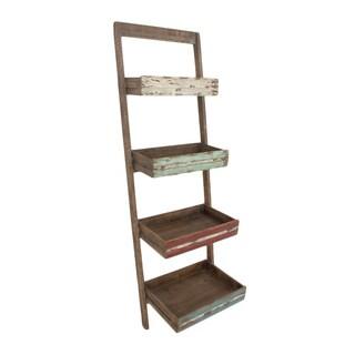 Cute Wood Leaning Shelf