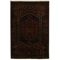 Handmade Herat Oriental Persian Tribal Hamadan Wool Rug (Iran) - 4'9 x 7'3