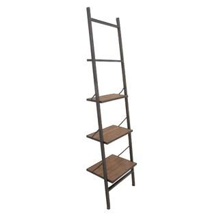 Tough Metal Wood Leaning Shelf