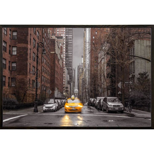 Poster New York Taxi.Shop Assaf Frank New York Taxi Poster In A Walnut Wood Frame