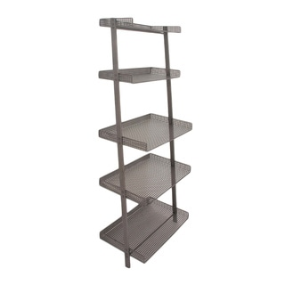 Grand Opulent Grey Leaning Shelf