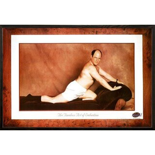 Seinfeld - George Timeless Art of Seduction Poster in a Walnut Wood Frame (36x24)