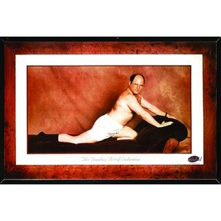 Seinfeld - George Timeless Art of Seduction Poster in a Black Thin Poster Frame (36x24)