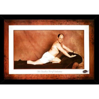 Seinfeld - George Tmeless Art of Seduction Poster in a Black Wood Frame (24x36)
