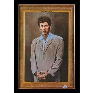 Seinfeld - Kramer Poster in a Black Wood Frame (24x36)