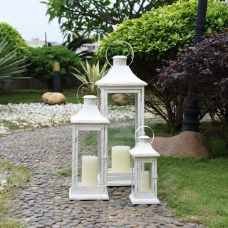 "Danya B. 29"" Set of 3 Nesting Lanterns - Antique White"