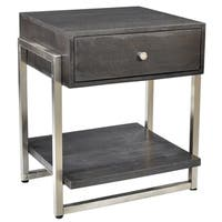 Jonas-Solid Mango Wood/Metal Accent Table
