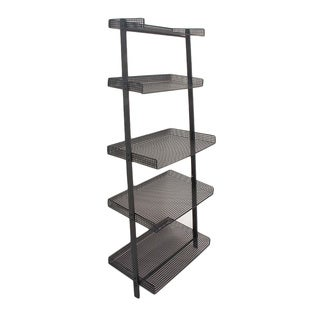 Benzara Black Iron Leaning Shelf