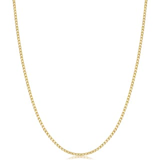 Fremada Italian 14k Yellow Gold Double Wheat Chain Necklace