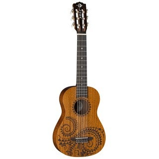 Luna Guitars Tattoo 6-String Baritone Ukulele, Mahogany Body