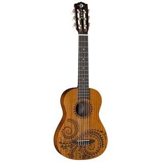 Luna Guitars Tattoo 6-String Baritone Ukulele, Mahogany Body