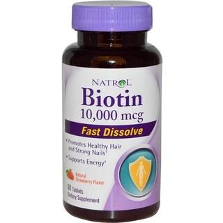 Natrol Biotin 10,000 mcg Fast Dissolve (60 Tablets)