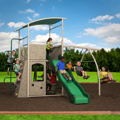 Backyard Discovery Castle Grey Swing Set