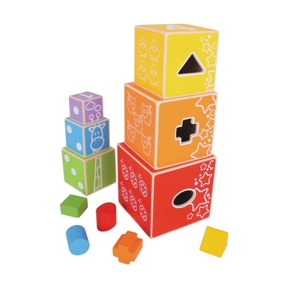 Bigjigs Toys Stacking Cubes
