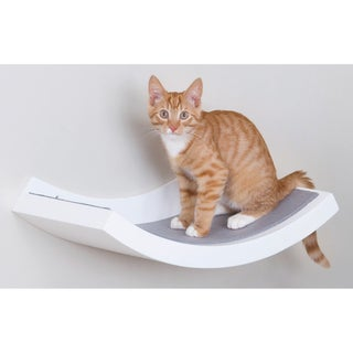 White Wall Mounted Cat Shelf