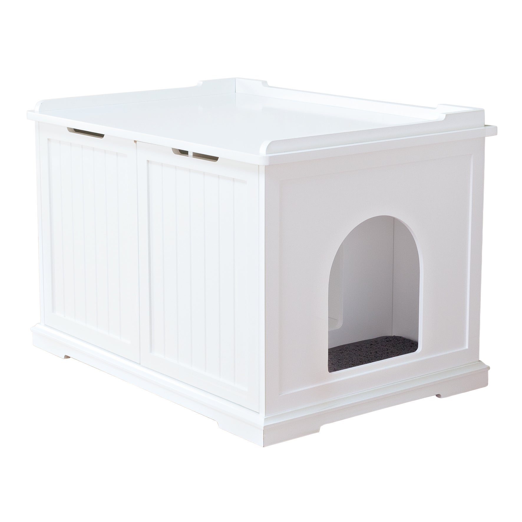 Trixie White Wooden Extra-Large Cat House and Litter Box ...