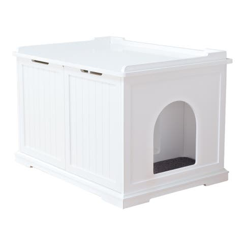 TRIXIE XL Wooden Cat House or Litter Box Enclosure, White