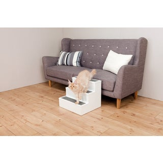 PetStair White Carpet Pet Stairs