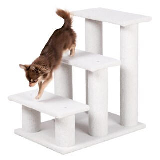 Plush White Pet Stairs