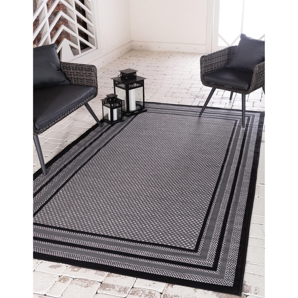 Unique Loom Outdoor Multi Border Area Rug. Opens flyout.