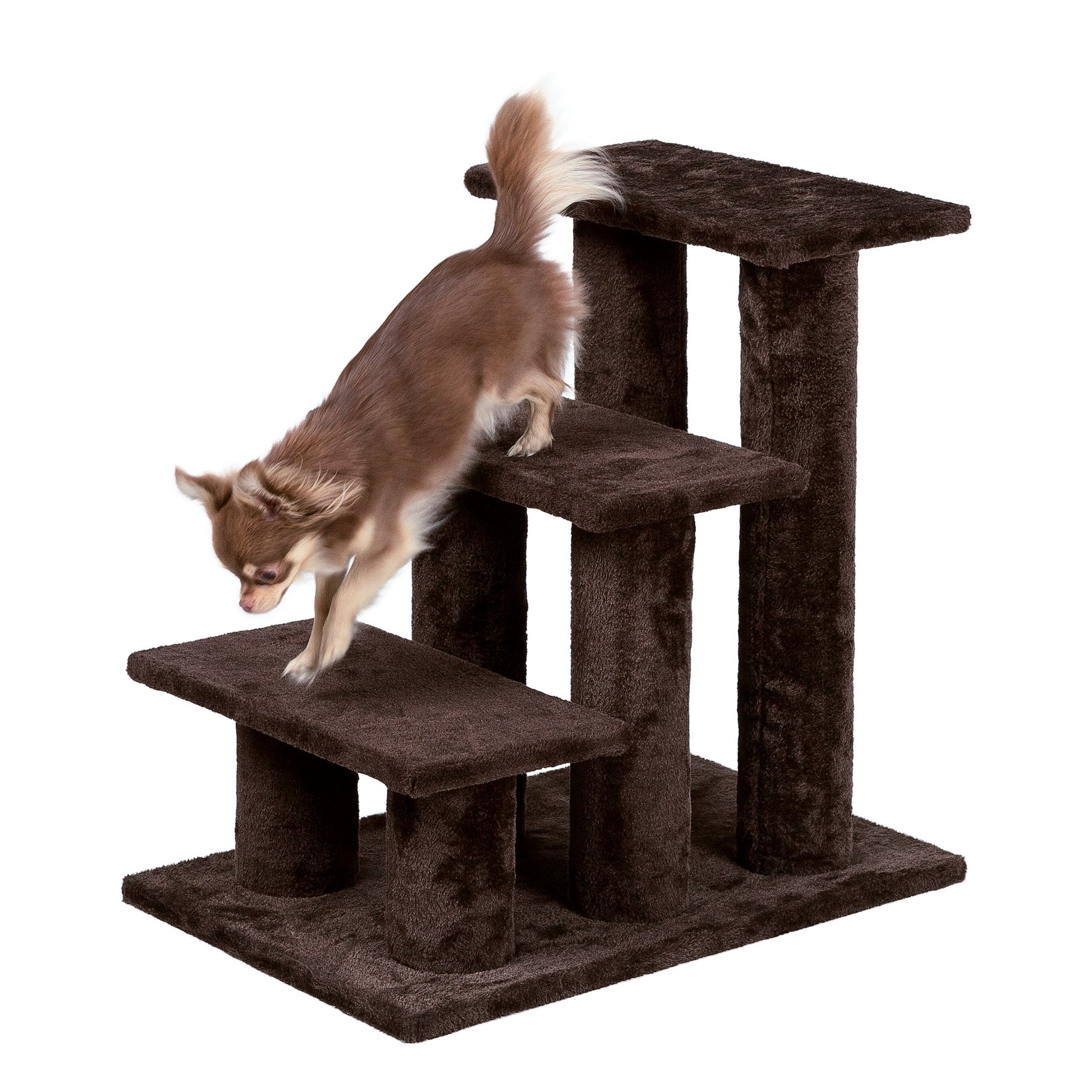 Trixie Plush Brown Pet Stairs (Brown)