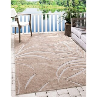 Transitional Nature Beige and Cream Indoor/Outdoor Area Rug (8'x10')