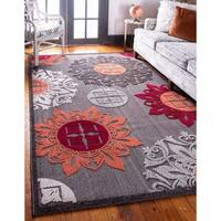 Unique Loom Chicago Indoor/ Outdoor Area Rug - 8' x 10'