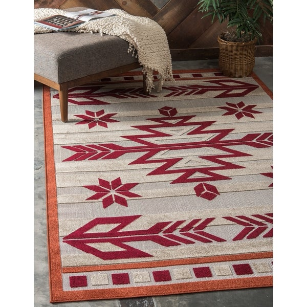 Shop Unique Loom Albuquerque Indoor Outdoor Area Rug 8