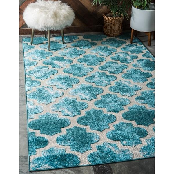 shop unique loom nashville indoor outdoor area rug 8 39 x 10 39 on sale free shipping today. Black Bedroom Furniture Sets. Home Design Ideas