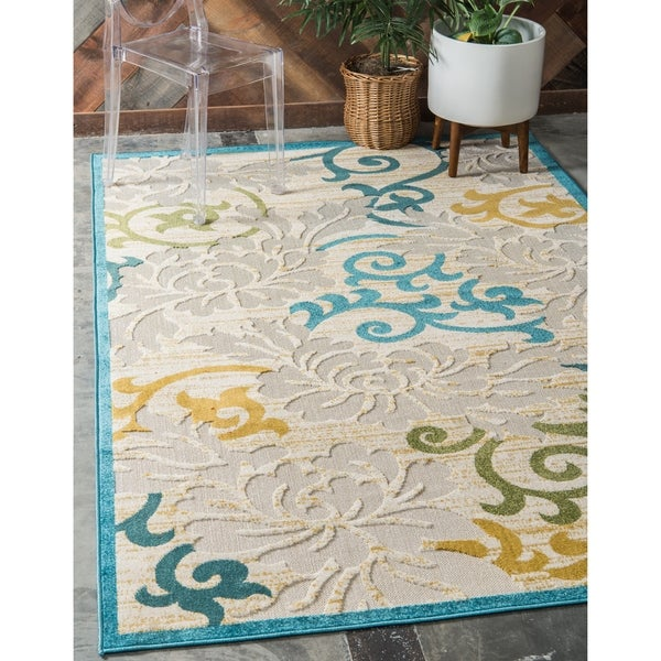 Outdoor Rug 7 X 10: Shop Unique Loom Savannah Indoor/Outdoor Rug