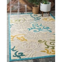 Unique Loom Savannah Indoor/ Outdoor Area Rug - 7' X 10'
