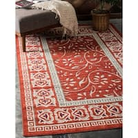 Unique Loom Atlanta Transitional Area Rug - 7' 0 x 10' 0