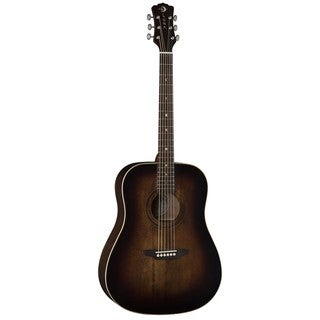 Luna Guitars Art Vintage Dreadnought Acoustic Guitar, Spruce Top - Distressed Vintage Brownburst
