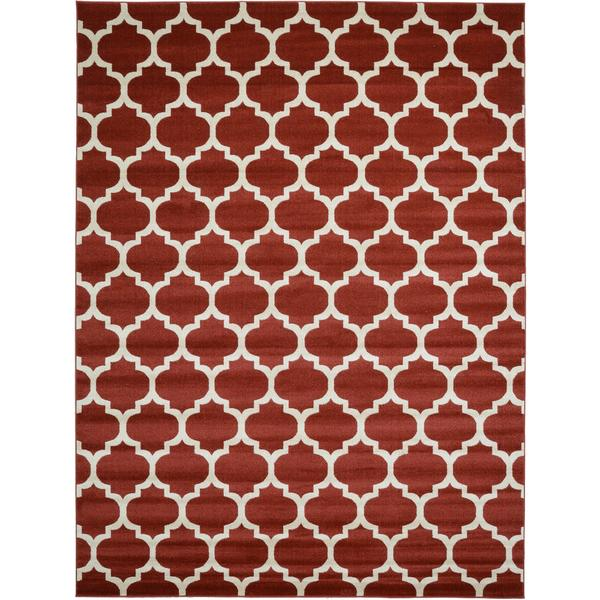Red and Cream Trellis Area Rug 9 x 12 Free Shipping Today