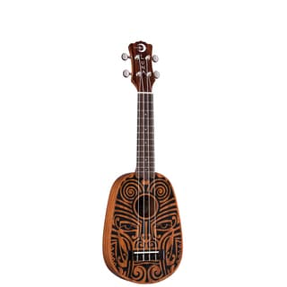 Luna Guitars Tribal Pineapple Ukulele, Mahogany Body - Satin Natural